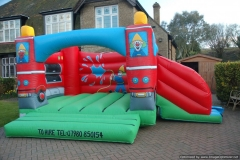 Fire Engine 12×12 Bouncy Castle with side Slide