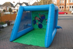 Inflatable Penalty Shootout blue and green